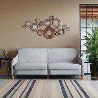 DHP Jasper Coil Sofa Bed, Light Gray