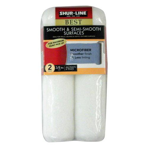 """Shur-Line Best 3/8"""" Microfiber Roller Cover, 2-Pack"""
