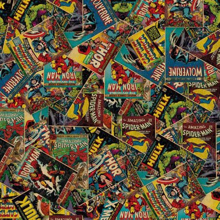Marvel Comic Book Characovrs 100% Cotton Fabric For Quilting And Crafting Officially Licensed From - Vintage Halloween Quilting Fabric