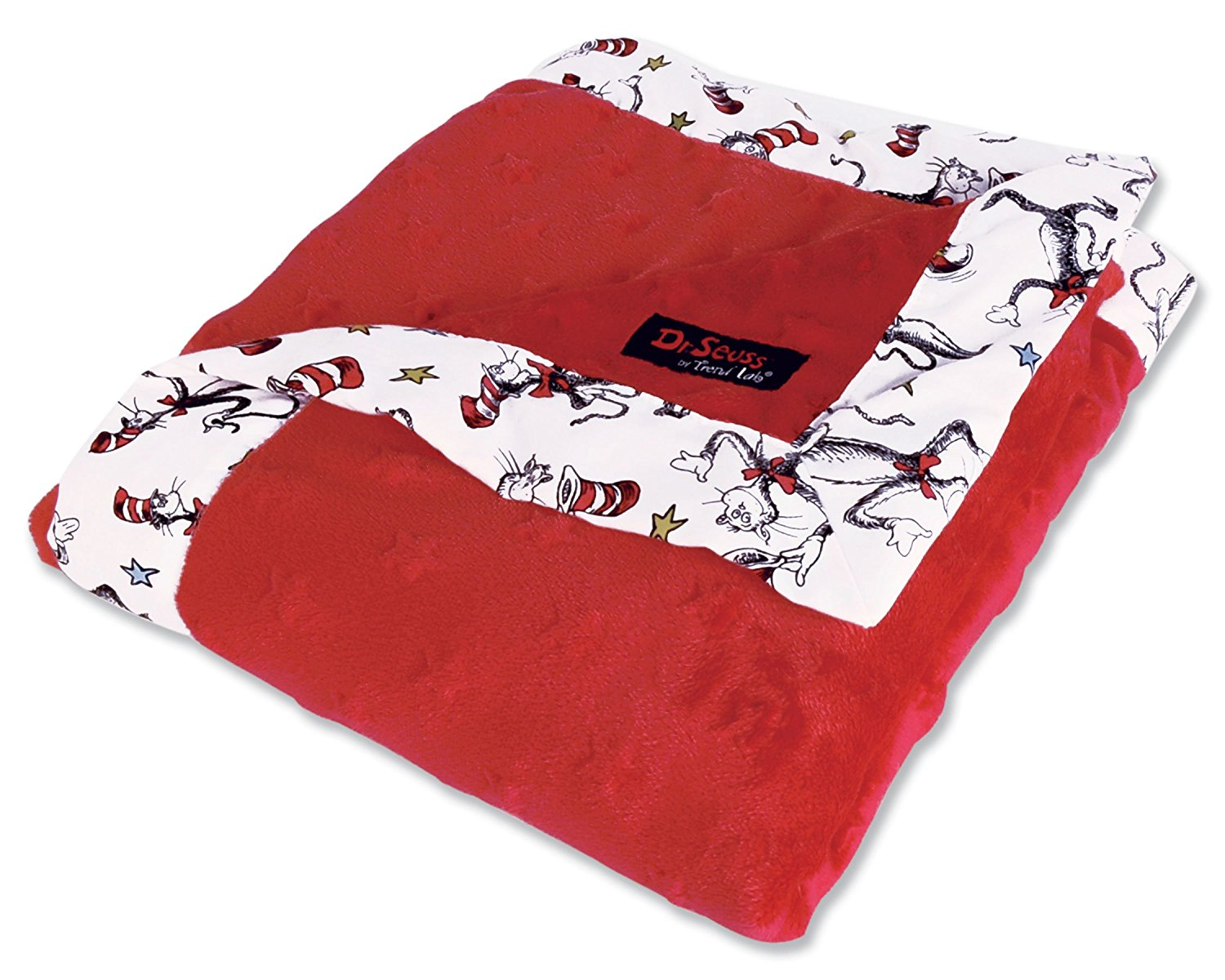 Dr. Seuss Receiving Blanket, Cat In The Hat Red, blanket: 100 percent polyester; frame: 100 percent cotton By... by Trend Lab