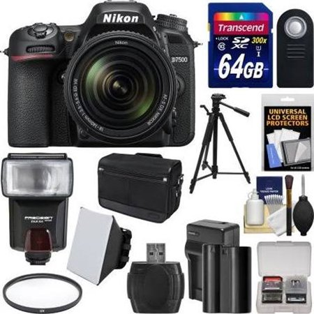 Nikon D7500 DSLR Camera (Body Only) with 64GB Card & Battery Bundle