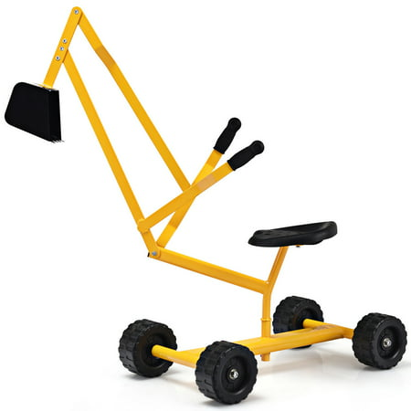 Sand Digger Toy (Costway Heavy Duty Kid Ride-on Sand Digger Digging Scooper Excavator for Sand)