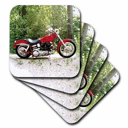3dRose Coaster Picturing Harley-Davidson® Motorcycle (Motorcycle Kickstand Coaster)