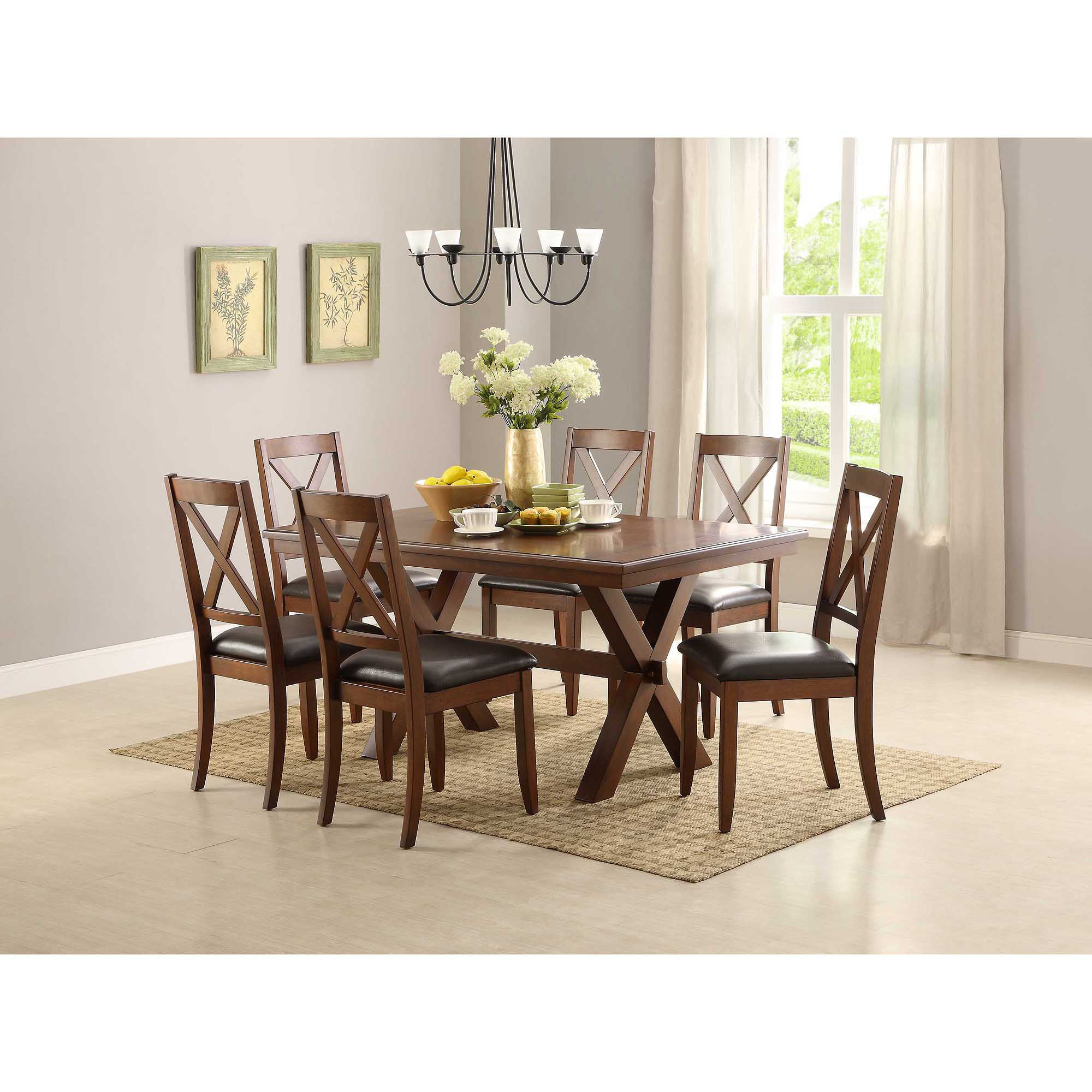 better homes and gardens maddox crossing dining table brown   walmart com better homes and gardens maddox crossing dining table brown      rh   walmart com