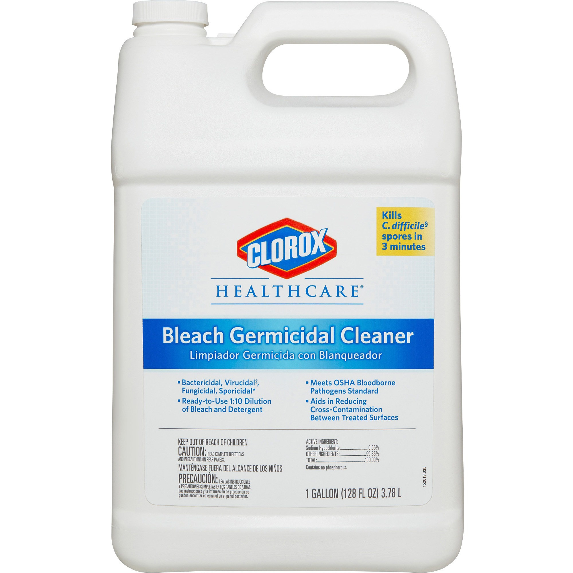 Clorox Healthcare Bleach Germicidal Cleaner Refill, 128 Fl Oz by Clorox