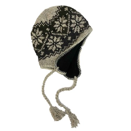 64bfdce7895e2 Eco Raggs - Mens Tan   Khaki Eco Raggs Peruvian Style Wool Blend Trapper Hat  Fleece Lined - Walmart.com