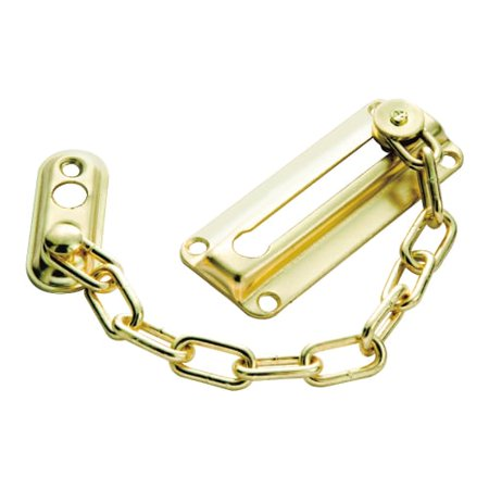 First Watch 1870 Solid Brass and Steel Chain Door Guard Featuring Ventilation Op