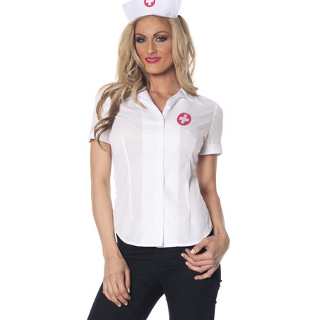 nurse fitted womens white doctor halloween costume adult shirt](Halloween Ii Nurse Daniels)