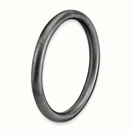 925 Sterling Silver Black Plated Band Ring Size 5.00 Stackable Smooth Fine Jewelry For Women Gifts For Her - image 2 of 8