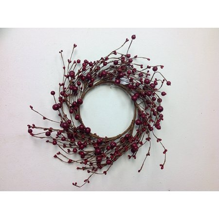 Mixed Red Berry Candle Ring Decorative Mini Wreath Interior Autumn Home Decor - Wreath Rings