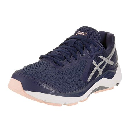 7faafa7d13b0d ASICS Women's Gel-Foundation 13, Indigo Blue/Silver/Seashell Pink, 6 B(M) US