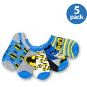 Batman, Boys Socks, 5 Pack No Show Socks (Little Boys & Big Boys)