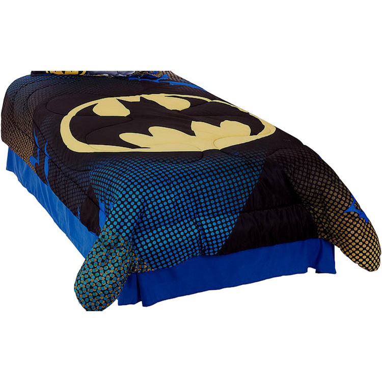 3pc DC Comics Batman Twin Comforter Set Great Gotham Bedding