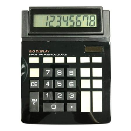 Dual Power Large Display Standard Function Desktop 8 Digit Basic Calculator
