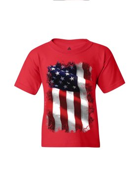Shop4Ever Youth Patriotic American Flag 4th of July USA Graphic Youth T-Shirt