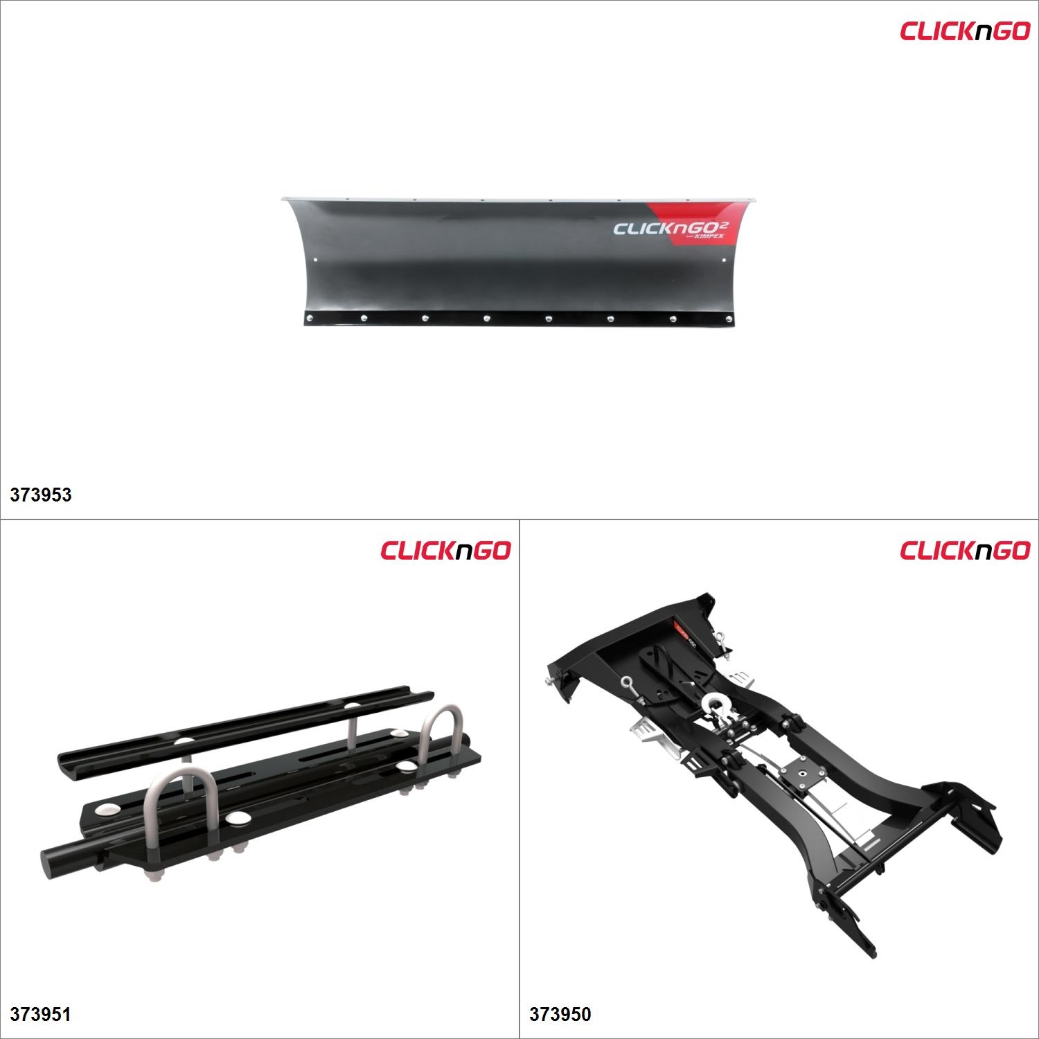 ClickNGo GEN 2 ATV Plow kit 60'', CF-Moto CFORCE 800 2015, 17 Black   Titanium Gray... by CLICK N GO