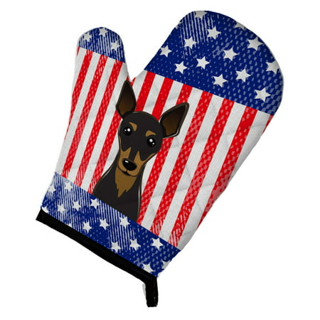 American Flag and Min Pin Oven Mitt ()