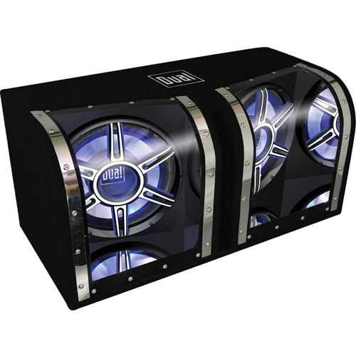 "Dual 12"" 1100-Watt Illumination Bandpass Subwoofers (Pair of Subwoofers)"