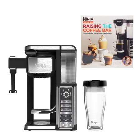 Ninja Single Serve Coffee Bar Machine with Recipe Book (Certified Refurbished) (Integrated Coffee Machine)