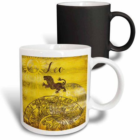 3dRose Leo Symbol Astrology Wheel Zodiac Sign Horoscope - Magic Transforming Mug, (Best Zodiac Sign For Capricorn Man)