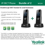 Yealink W52H 2-PACK SIP Cordless VoIP Phone System for Business Solutions