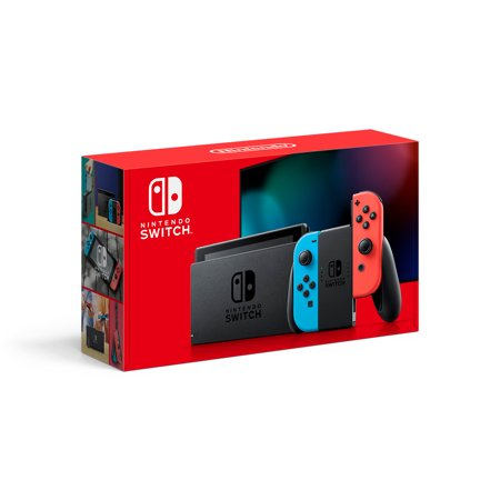 Nintendo Switch Console with Neon Blue & Red