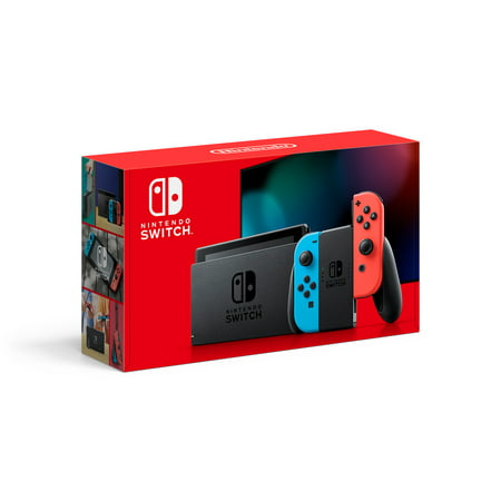 Nintendo Switch Console with Neon Blue & Red Joy-Con