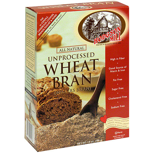 Hodgson Mill Unprocessed Wheat Bran, 14 oz (Pack of 6)