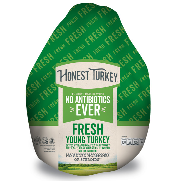 Honest Turkey Frozen Whole Antibiotic-Free Turkey, 16.0-24.0 lb
