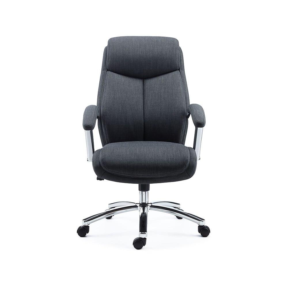 Staples Fayston Fabric Home Office Chair Charcoal 2719545 Walmart Com Walmart Com