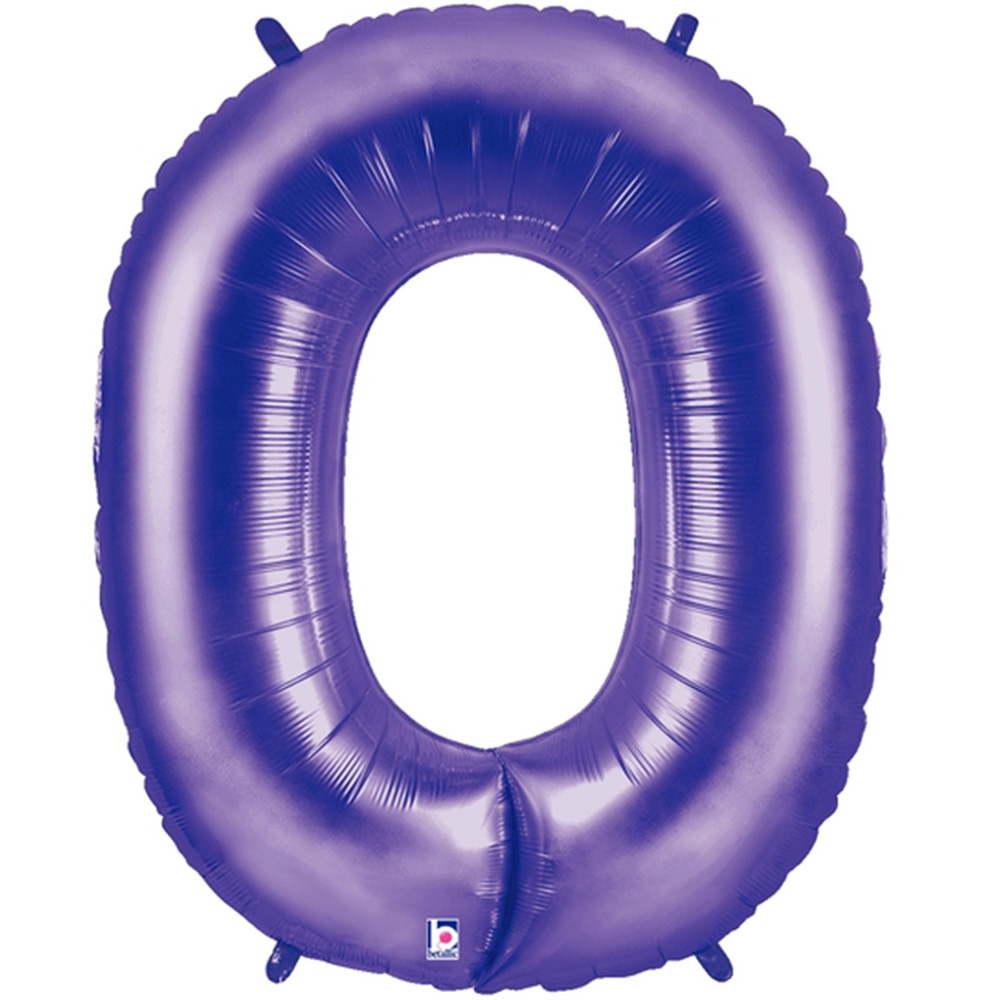 Giant Purple Number 0 Foil Balloon 40""