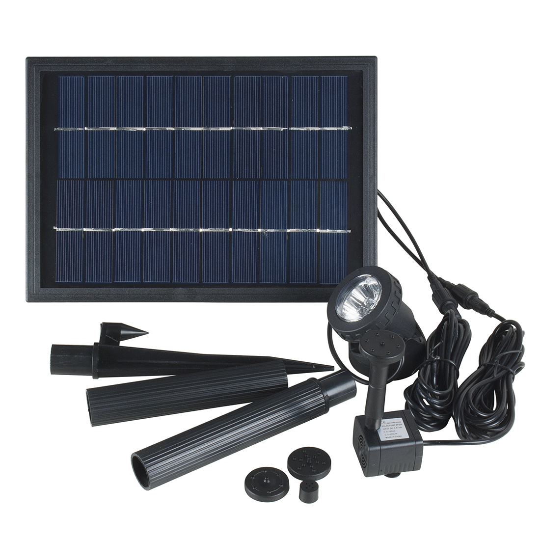 Solar Power Panel Fountain Water Pump Kit with 6LED Spotlight Garden Pool Pond Nonpower Store