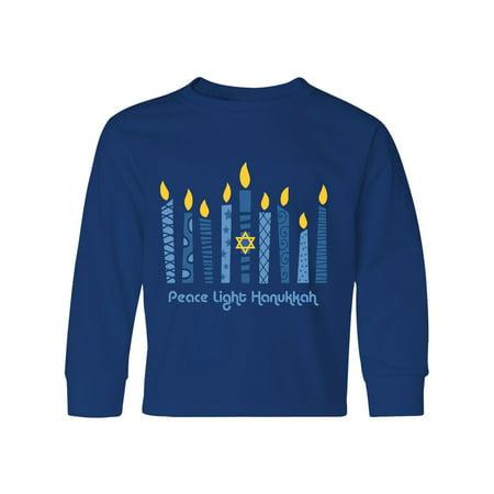 Peace Light Hanukkah Youth Long Sleeve T-Shirt