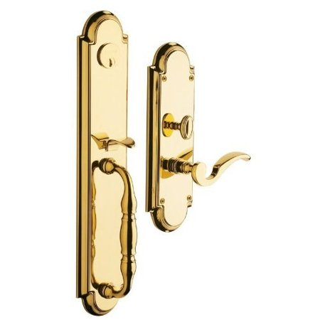 Baldwin  6544.LFD  Dummy Set  Hamilton  Mortise Lock  ;Lifetime Polished (Brass Dummy Lock Set)