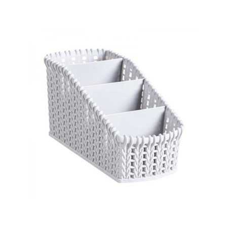 - Topumt Imitation Rattan Storage Basket Multi-Compartment Cosmetics Holder Organizer Room Kitchen Desktop Storage Boxes