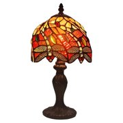 Amora Lighting Tiffany Style AM064TL08 14.5-inch Dragonfly Mini Table Lamp