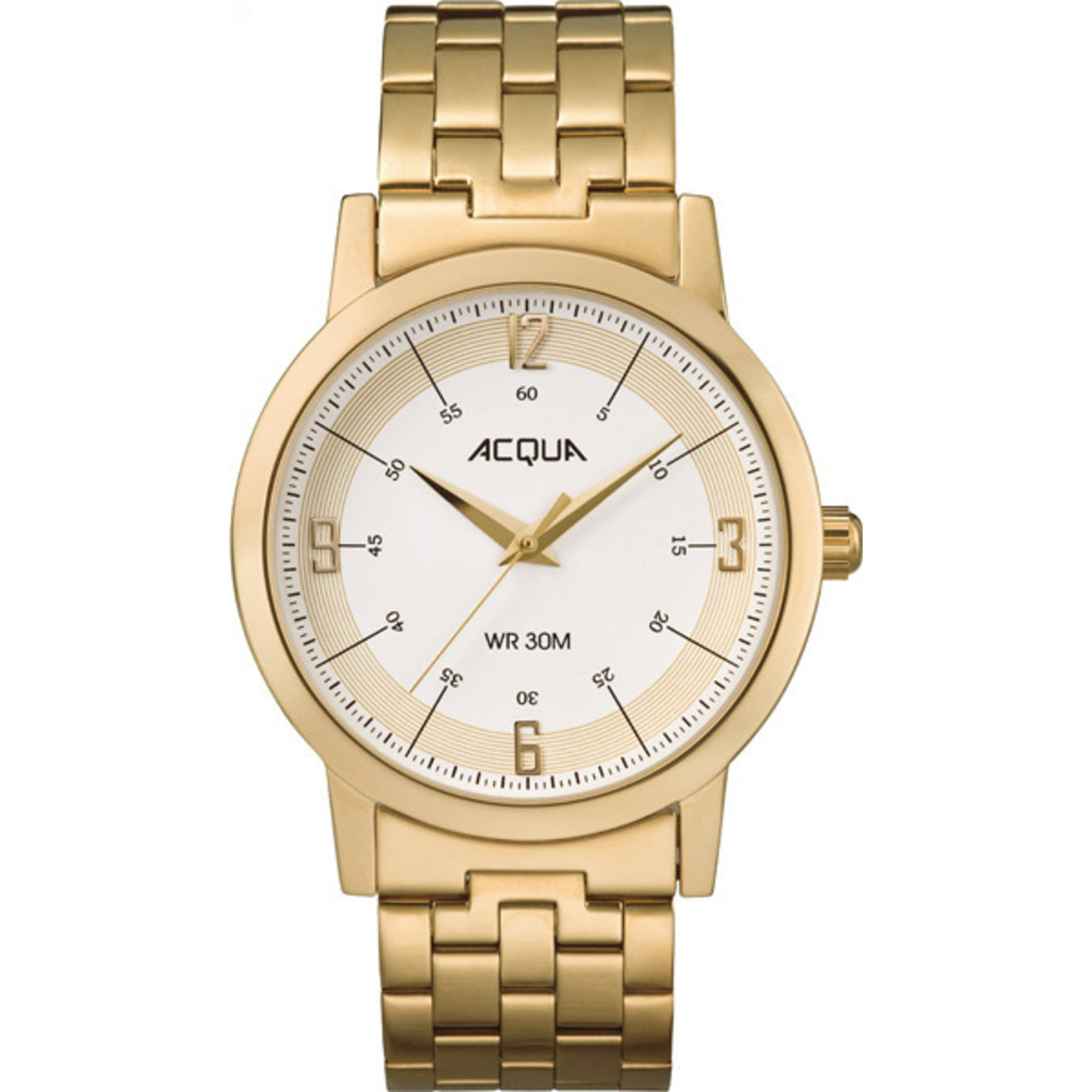 Image of Acqua by Timex Men's Gold-Tone/Cream Watch, Stainless Steel Bracelet