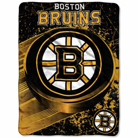 Boston Bruins 46'' x 60'' Ice Dash Micro Raschel Throw Blanket - No Size