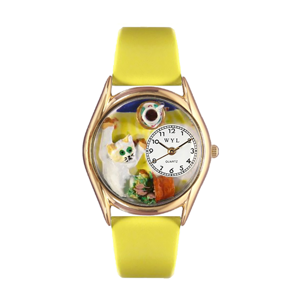whimsical watches c0120008 classic gold bad cat