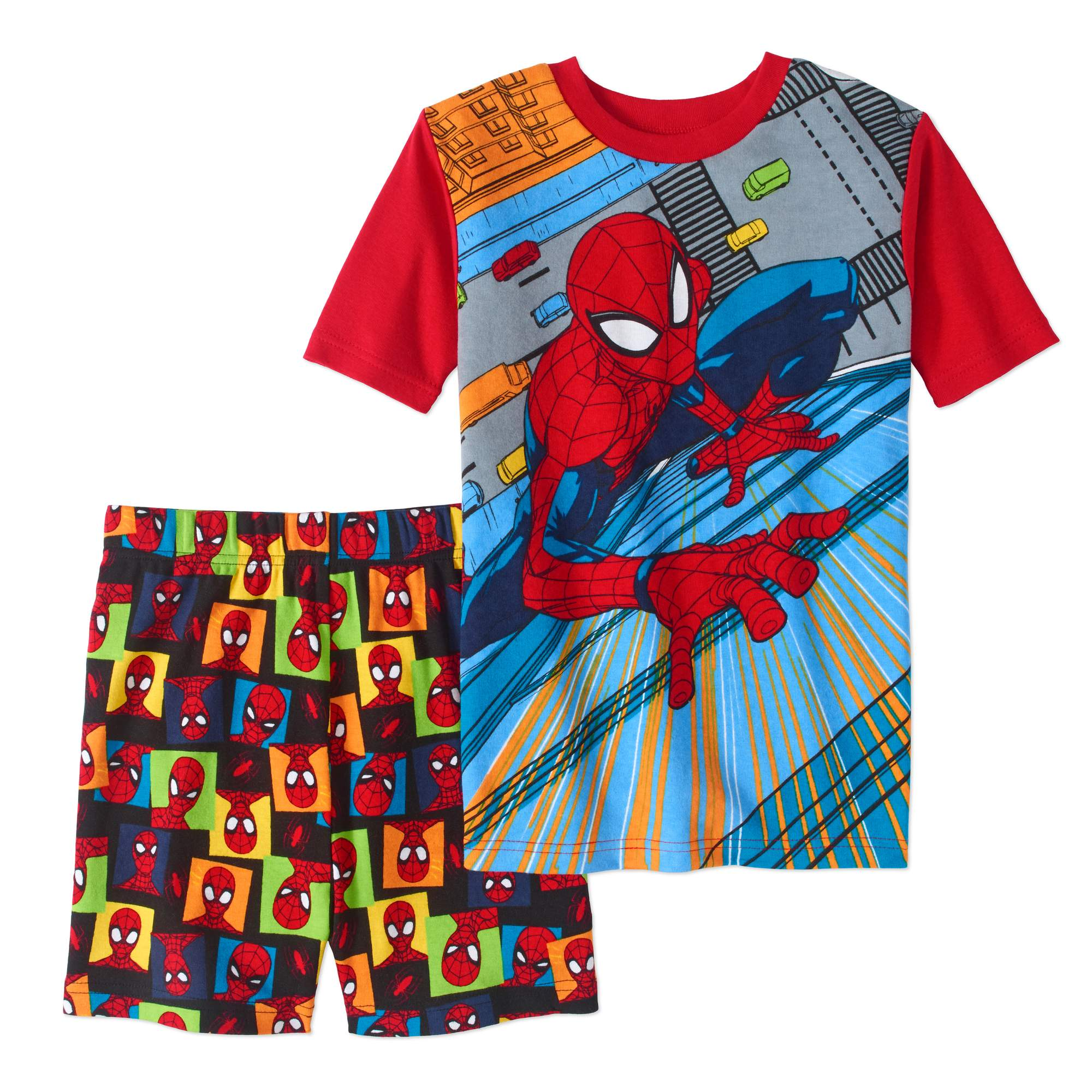 Spider-Man Boys' 2-Piece Cotton Pajama Sleep Short Set