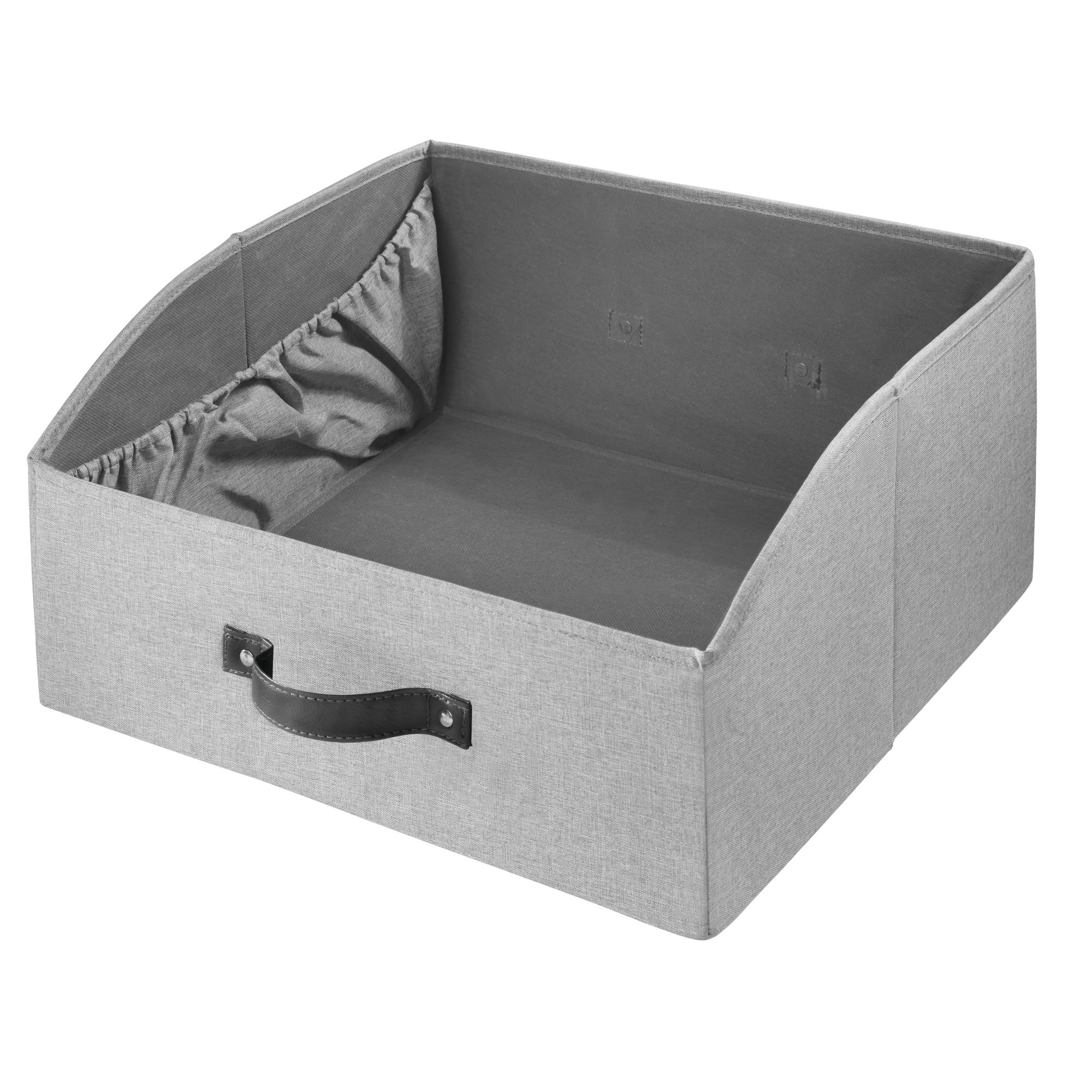 iDesign Codi Two Sided Storage Drawers, Gray, Pack of 2