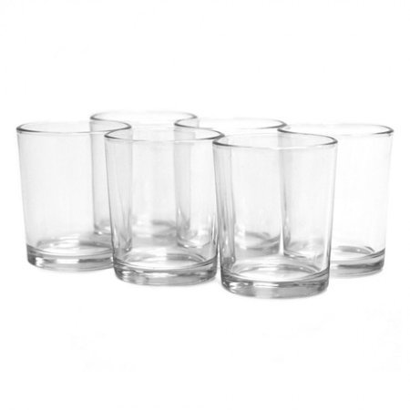 DIY Wedding Koyal Wholesale Candle Holder, Clear Glass, Pack of 12 (Wholesale Superstore)