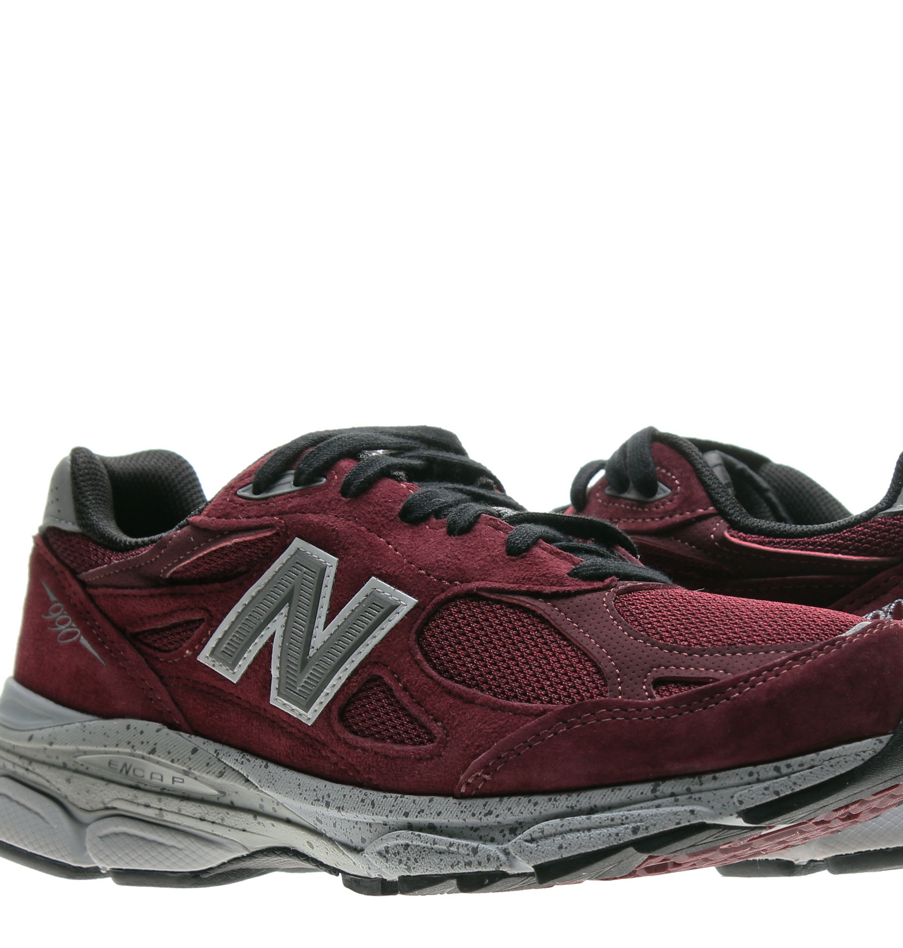 New Balance 990v3 Burgundy Grey Men's Running Shoes M990BU3 by