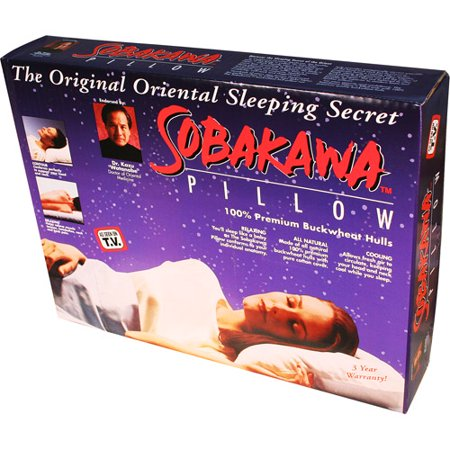 As Seen on TV Sobakawa Buckwheat Hull Pillow, Queen Size
