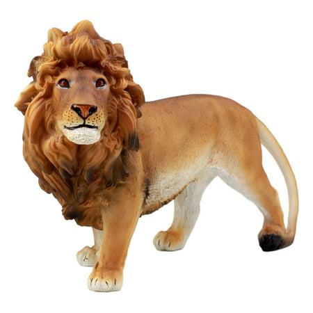 Ebros Gift African Wildlife King Lion Figurine 10.25