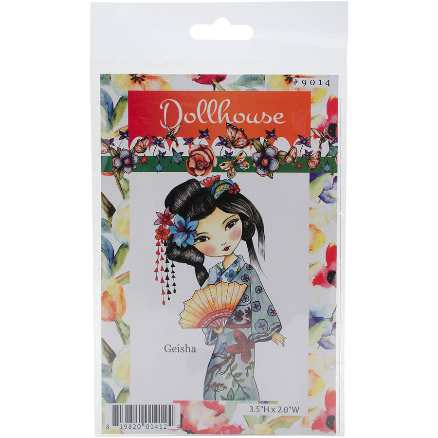 "Dollhouse Cling Stamp, 4"" x 7"", Geisha"