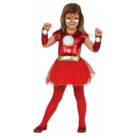 Superhero Tutu Dress Child Costume Iron Man - Toddler](Iron Man Child Costume)