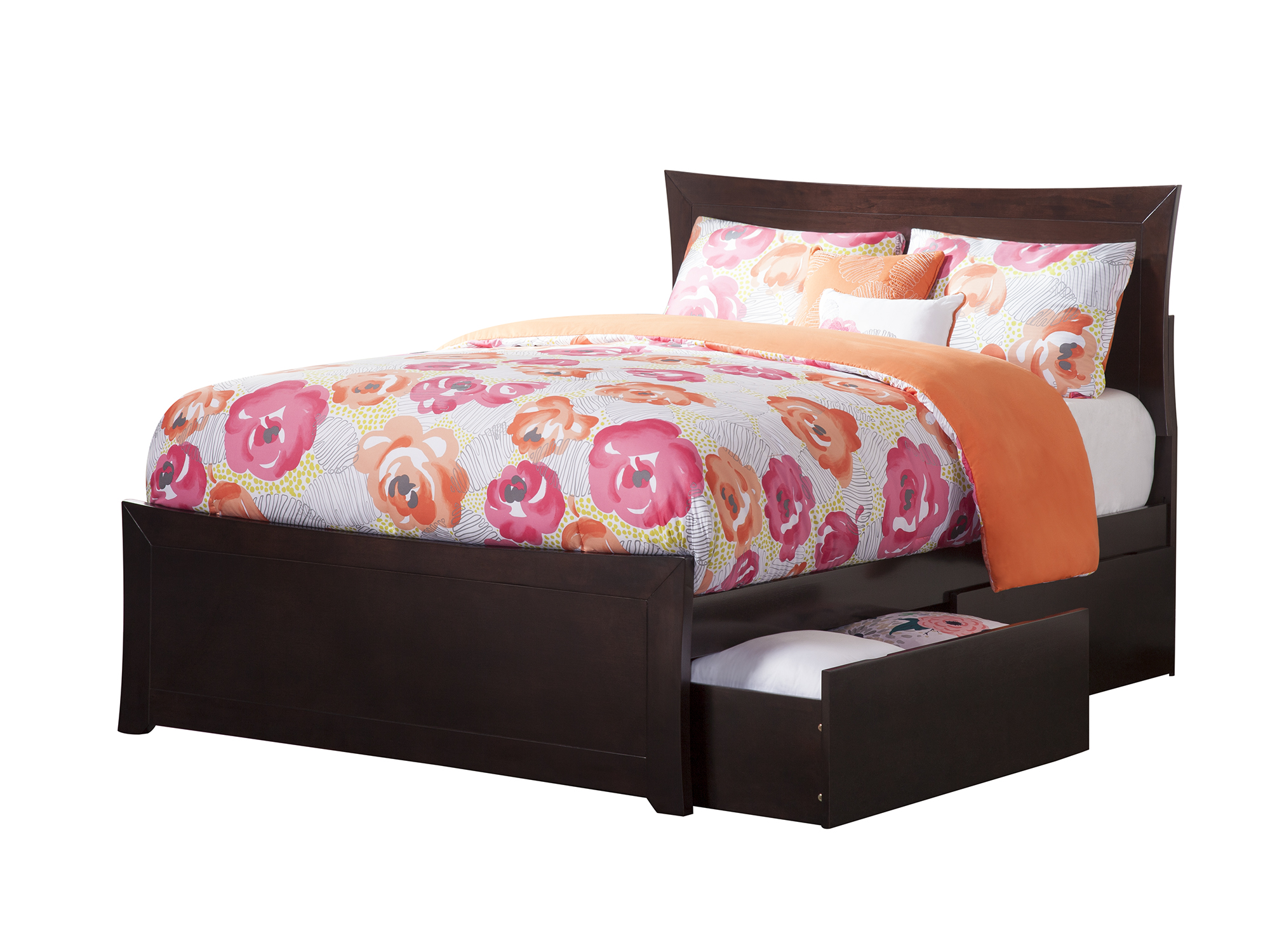 Metro Full Platform Bed With Matching Foot Board With 2 Urban Bed Drawers,  Multiple Colors   Walmart.com