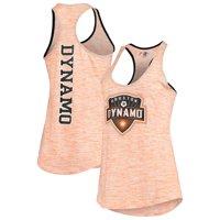 Houston Dynamo 5th & Ocean by New Era Women's Novelty Space Dye Jersey Racerback Tank Top - Orange