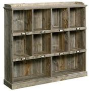 Sauder Granite Trace Contemporary 10-Cubby Wood Bookcase in Rustic Cedar